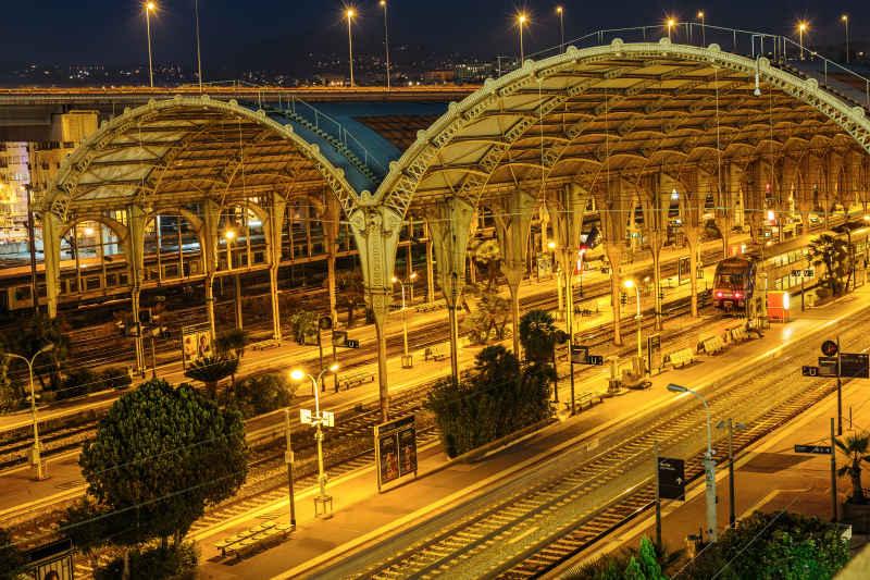 Järnvägsstationen i Nice